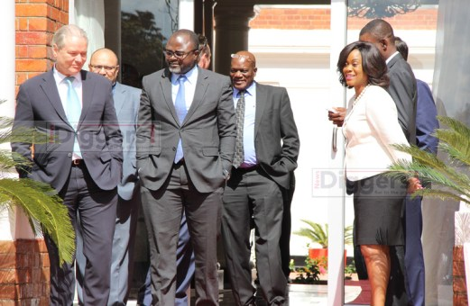 Heads of commercial Banks in Zambia before a meeting with President Edgar Lungu at State House on July 6, 2017 - Picture by Joseph Mwenda
