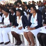Nurses during official launch of Levy Mwanawasa Teaching Hospital in Lusaka - picture by Tenson Mkhala