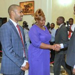 President Lungu with Dora Siliya and Vincent Mwale