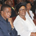 President Edgar Lungu and wife Esther at the memorial service of fifth president Michael Chilufya Sata at Catholic Cathedral of the Child Jesus in Lusaka on October 28, 2017 - Picture by Tenson Mkhala