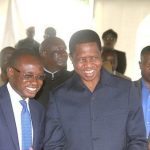 President Edgar Lungu with his press aide Amos Chanda