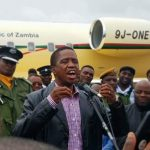 President Edgar Lungu at Simon Mwansa Kapwepwe International Airport on February 9, 2018
