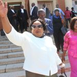 Munali UPND losing candidate Doreen Mwamba (l) leaves Lusaka High Court shortly after judge viewed  the video evidence on March 20, 2018 - Picture by Tenson Mkhala