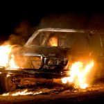 Generic image of burning car