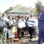 Lusaka Province Minister Bowman Lusambo chases Lusaka City Council employees who reported for work after 08:00 hours