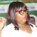 Information and Broadcasting minister Dora Siliya during a press briefing at the PF secretariat in Lusaka on August 7, 2018 – Picture by Tenson Mkhala