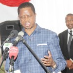 President Edgar Lungu speaks during the launch of the Total Zambia head office in Lusaka's Northmead area on October 16, 2018 – Picture by Tenson Mkhala