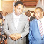 UPND leader Hakainde Hichillema with his vice Geoffrey Mwamba arrive at Lusaka Magistrates Court for the case against Chilufya Tayali on October 17, 2018 – Picture by Tenson Mkhala