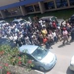 CBU lecturers protest on March 25, 2019