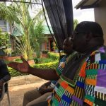 NDC leader Chishimba Kambwili addresses journalists at his house in Lusaka on April 17, 2019