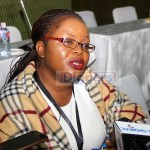 MISA Zambia Chairperson Hellen Mwale addresses journalists at Mulungushi International Conference Centre on May 15, 2019 - Picture by Tenson Mkhala