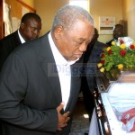 Rupiah Banda at St Margaret UCZ Church during funeral service of his former ADC George Lungu in Lusaka's Kaunda Square on July 18, 2019 - Picture by Tenson Mkhala