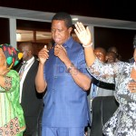 L-r: National Guidance and Religious Affairs Minister Godfridah Sumaili, President Edgar Lungu and First lady Esther during the day of Prayer and Fasting held at Mulungushi International Conference Center in Lusaka on February 22, 2020 – Picture by Tenson Mkhala