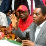 UPND leader Hakainde Hichilema addressing journalists during a press briefing at the party secretariat on February 6, 2020 – Picture by Tenson Mkhala