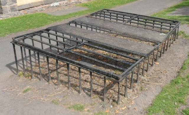 Double mortsafe, Greyfriars Kirkyard, Edinburgh