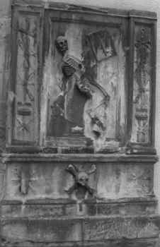Gravestone of James Borhtwick, Dancing Skeleton, Greyfriars Kirkyard, Edinburgh
