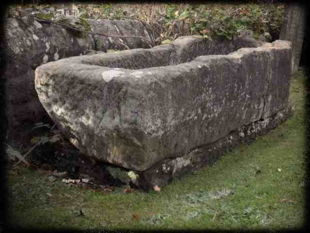 Mortstone or 'Resurrection Stone' at St Roberts Church Pannal North Yorkshire