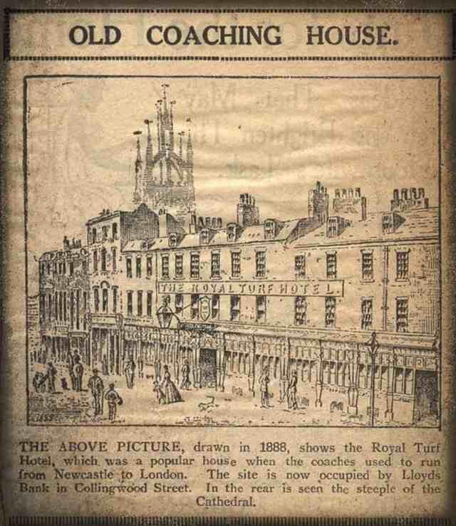 Turf Hotel Collingwood Street Newcastle Unknown 1888 via Newcastle Libraries