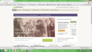 screen shot of ancestry