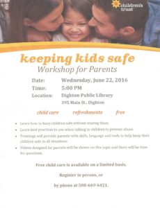 Keeping Kids Safe Flyer