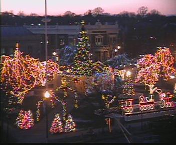 Holiday Lights on the Taunton Green