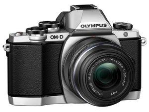 OlympusOM-DE-M10MirrorlessDigitalCamerawith14-42mm2RKlens-Silver-