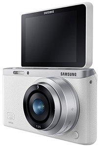 SamsungNXMini20.5MPCMOSSmartWiFi-NFCMirrorlessDigitalCamerawith9mmLensand3FlipUpLCDTouchScreen-White-