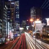 首都高速3号渋谷線で撮るクルマの光跡