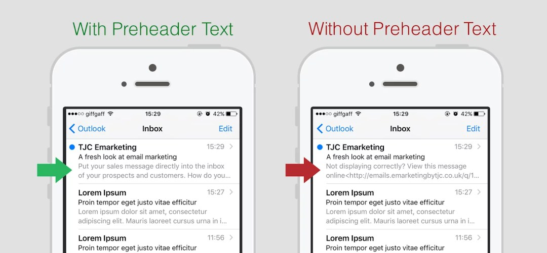 Email Marketing: preheader text