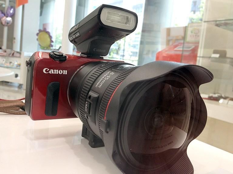 Red + EFアダプタ + 8-15mm