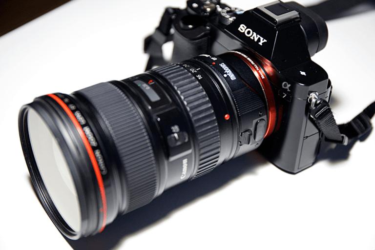 マウントアダプター+EF 16-35mm F2.8