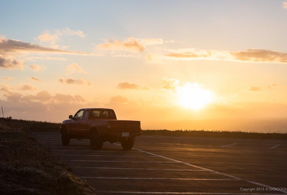 TACOMAと夕日