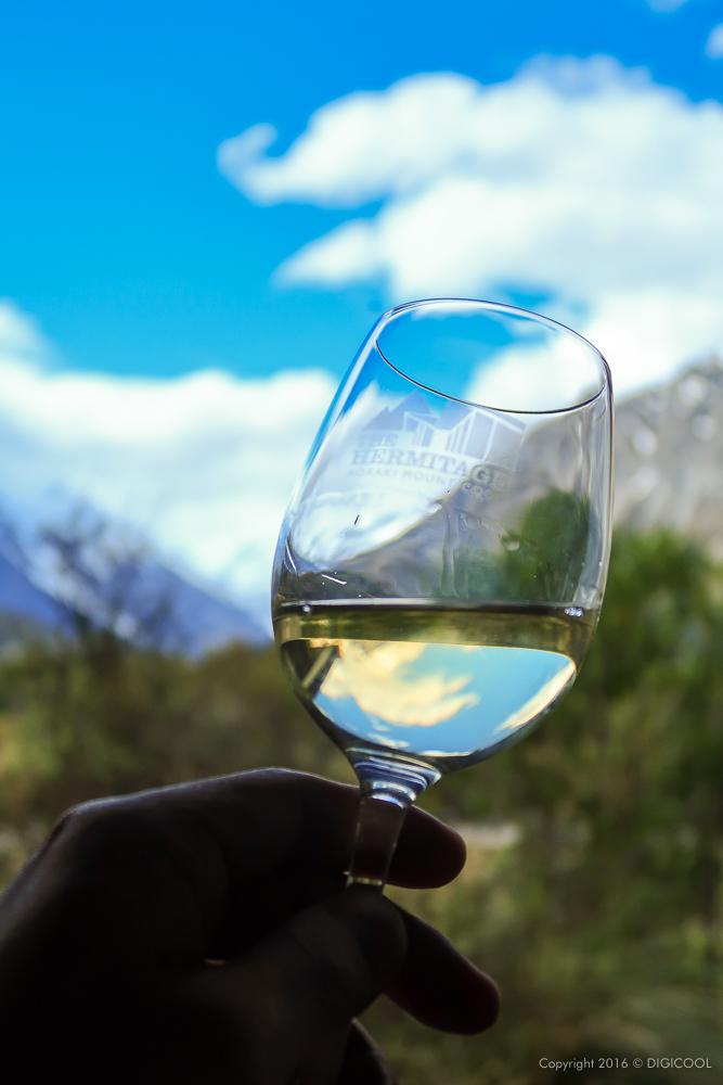 白ワインで休憩