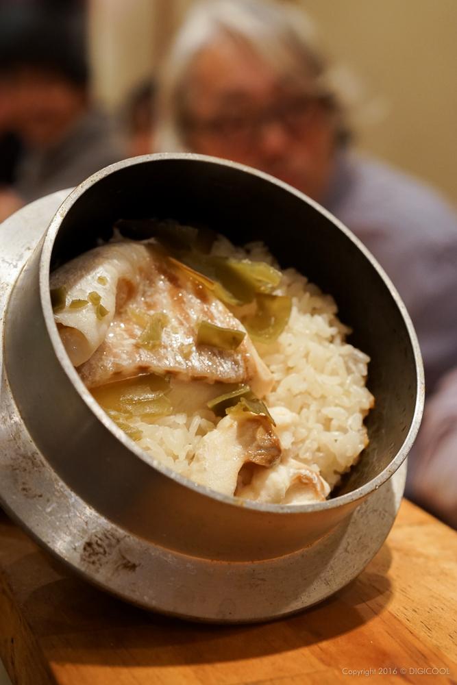 鯛と昆布の釜飯