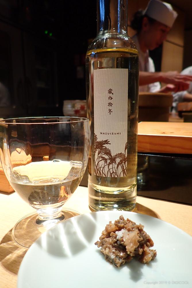バイ貝の肝と満寿泉酒粕和え