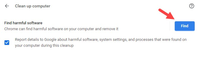 Find_harmful_software_Clean_up_computer_Chrome