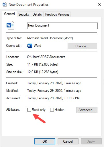 Disable_read_only_mode_of_word_document