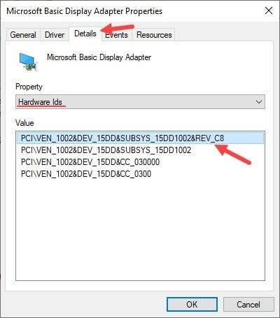 Hardware_ids_display_adapter_properties