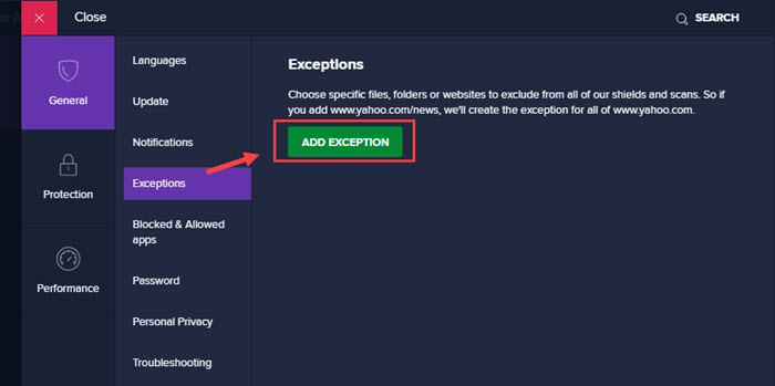 add_exceptions_in_avast