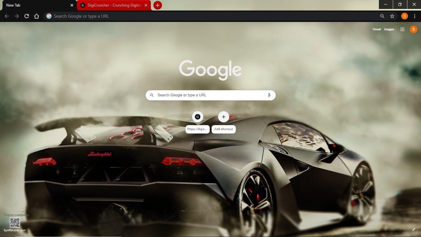 Lamborghini_Google_chrome_theme