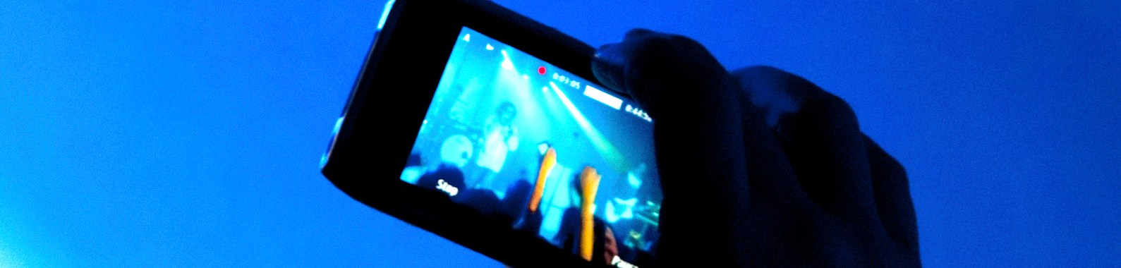 Concert video recording with cell phone