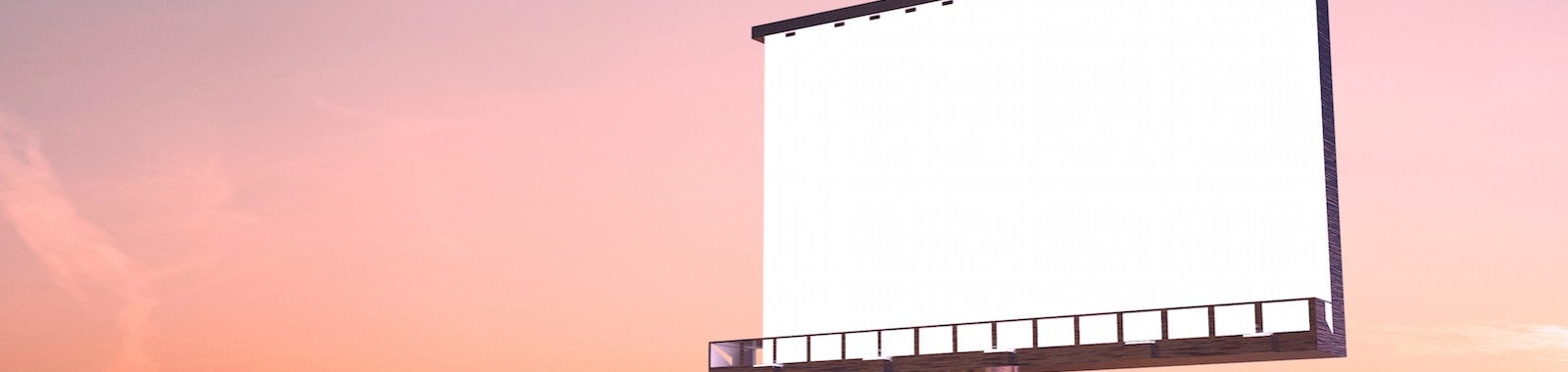 billboard in twilight