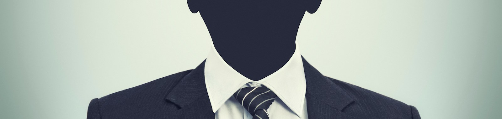 An unkhown person in business suit
