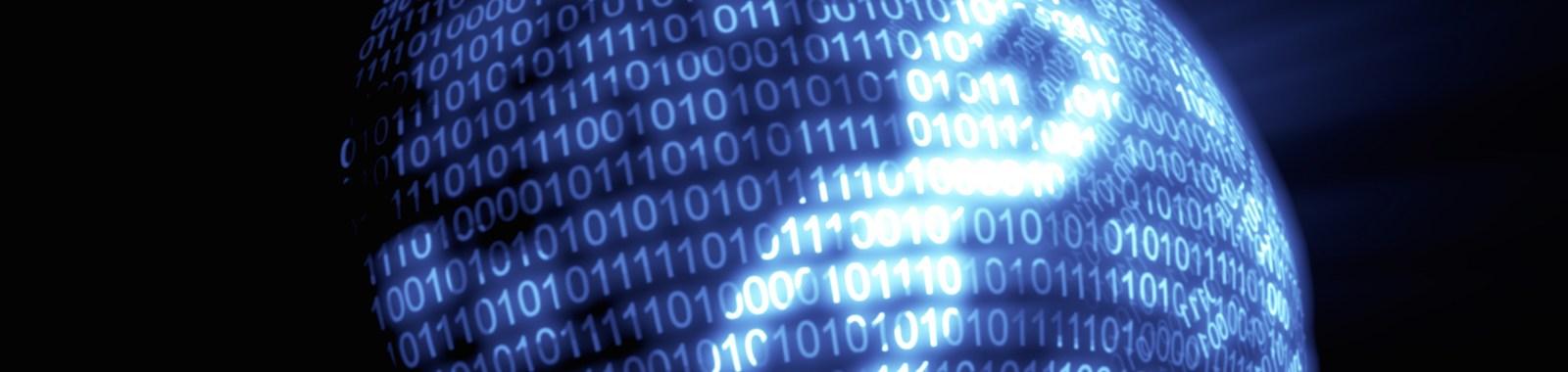 Digital Blue Binary Code Technology