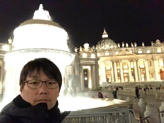 「ボンボンTV」イタリア編のために、バチカン出張した際の安永氏