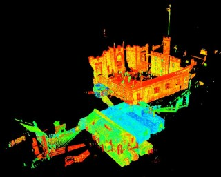 Registered point cloud of French Prison and underground vaults.