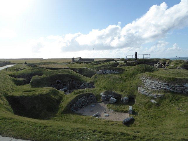 First view of Skara Brae upon arrival.