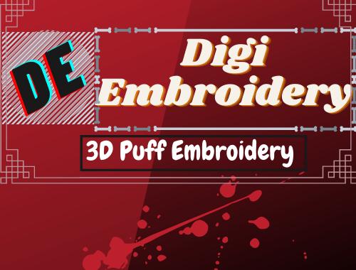 3d puff design