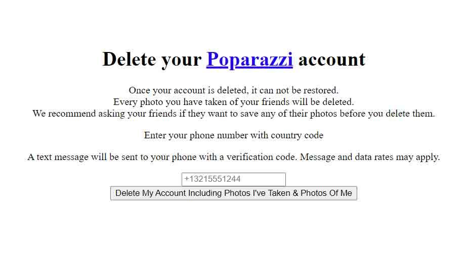 Poparazzi-delete-account