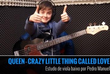 QUEEN – CRAZY LITTLE THING CALLED LOVE – Estudo de Viola Baixo por Pedro Manuel